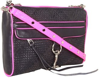 Rebecca Minkoff Woven M.A.C. Clutch (Navy) - Bags and Luggage