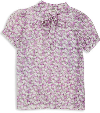 Forever 21 H81 Silk Floral Blouse