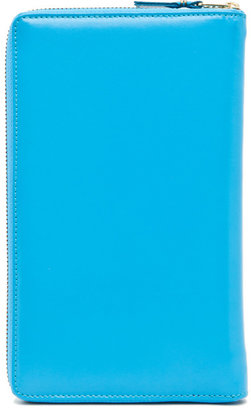 Comme des Garcons Travel Wallet in Blue