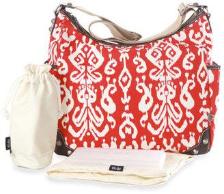 OiOi Red Ikat Hobo Diaper Bag