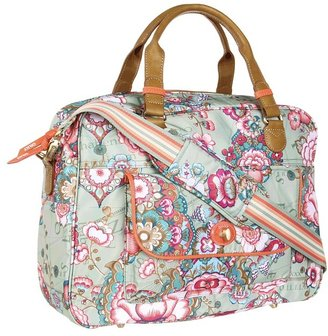 Oilily Fantasy Floral Office Bag (Pistachio) - Bags and Luggage