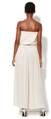 New York & Co. Palazzo Strapless Jumpsuit