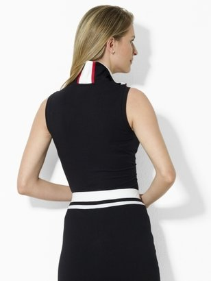 Ralph Lauren Half-Zip Sleeveless Polo