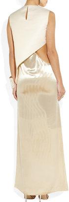 Estéban Paris Cortazar Cutout cady and velvet gown