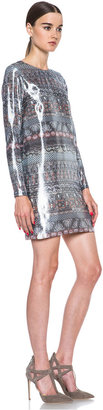 Kenzo Lurex Silk-Blend Dress in Argent