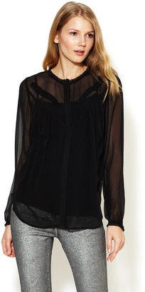 Twenty8Twelve Anouke Semi-Sheer Silk Georgette Blouse