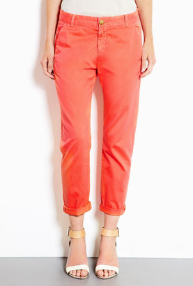 Current/Elliott Bright Coral Captain Trousers