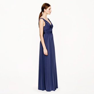 J.Crew Helene long dress in liquid jersey