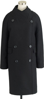 J.Crew Double-breasted cocoon coat in wool-cashmere