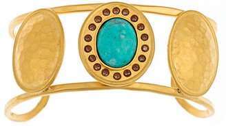 Evelyn Knight Gold Hammered Ovals Cuff