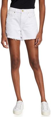 Frame Le Brigette Raw-Edge Shorts