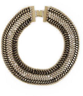 BCBGMAXAZRIA Woven Box-Chain Necklace