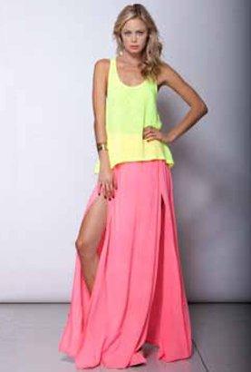 Sorbet Woodleigh Woodleigh Nova Skirt in Melon
