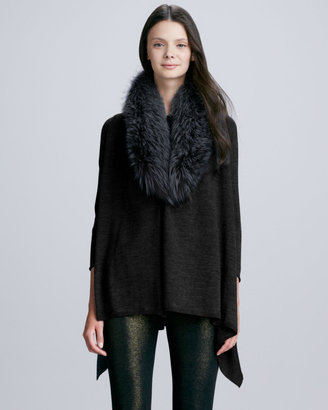 Alice + Olivia Izzy Fur-Trim Cardigan