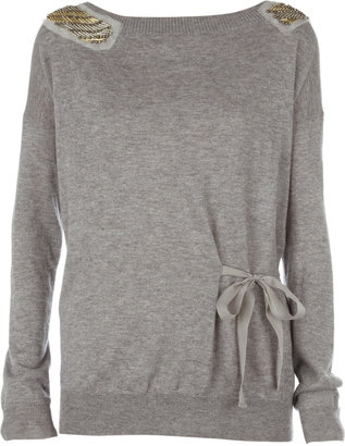 3.1 Phillip Lim Beaded silk and cashmere-blend sweater