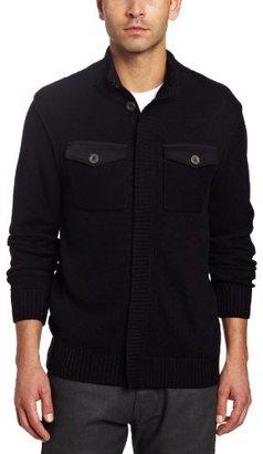 Spring+Mercer Men's Patch Pocket Cardigan Sweater