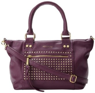 Kenneth Cole Reaction Connect 4 Satchel - Studded K03232 Top Handle Bag,Aubergine,One Size