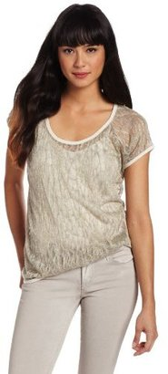 Vince Camuto Two by Women's Metallic Knit Tee