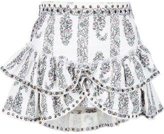 Isabel Marant floral ruffle skirt