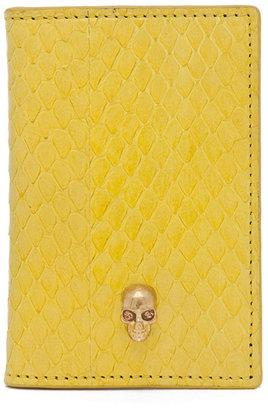 Alexander McQueen Whips Pocket Organizer in Bright Yellow