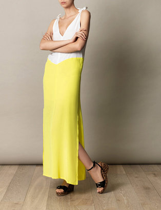 Anna & Boy Acid yellow maxi dress