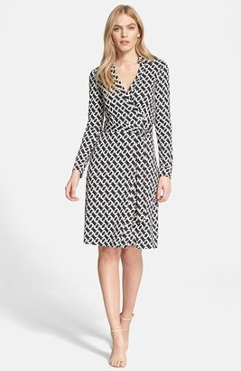 Women's Diane Von Furstenberg 'New Jeanne Two' Print Silk Wrap Dress $398 thestylecure.com