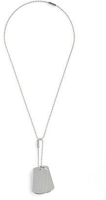 Men's Gucci Silver Dog Tag Necklace $380 thestylecure.com