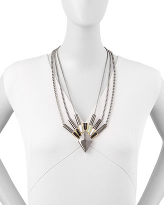 Eddie Borgo Horus Front/Back Pendant Necklace