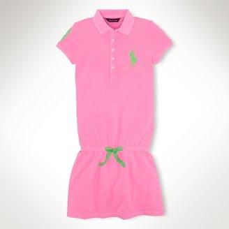 Big Pony Cotton Polo Dress