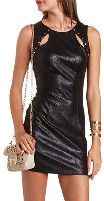 Charlotte Russe Studded Cutout Body-Con Dress