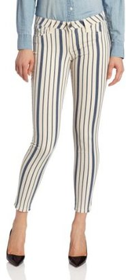 Joie Women's Nailah Striped Denim in Dark Navy