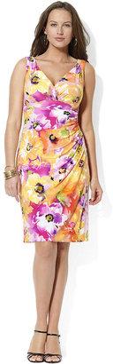 Lauren Ralph Lauren Plus Dress, Sleevelss Floral-Print Faux-Wrap