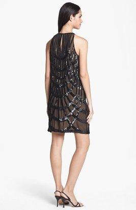 Nicole Miller Sequin Pattern Silk Shift Dress