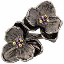 Michael Aram Pink Sapphire Double Orchid Ring