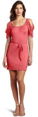 Wrapper Cold-Shoulder Dress