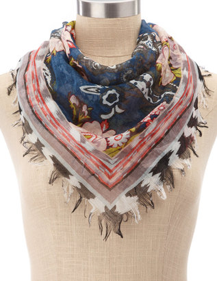 Charlotte Russe Lightweight Paisley Flower Scarf