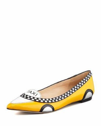 Kate Spade New York Go Taxi Pointed-Toe Flat $278 thestylecure.com