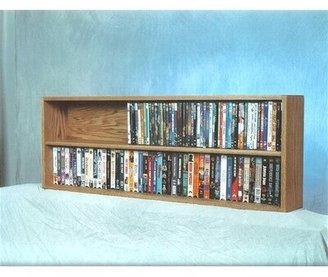 Wood Shed 200 Series 176 DVD Multimedia Tabletop Storage Rack Wood Shed
