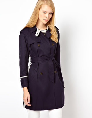 Whistles Riley Color Block Trench