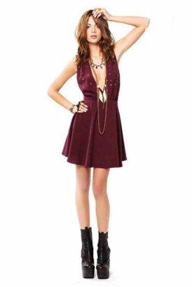 For Love & Lemons Little Lover Dress in Wine