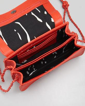 Kelsi Dagger Tyler Bead-Front Crossbody Bag, Poppy