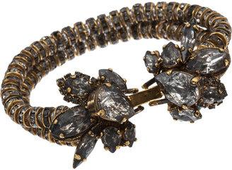 Erickson Beamon Grey Crystal Double-Strand Rondelle Bracelet