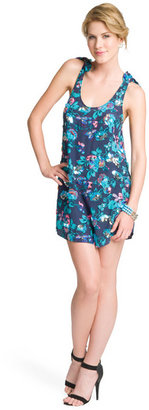 Rebecca Taylor Floral Sequin Tank Dress