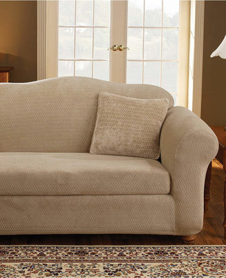 Sure Fit Stretch Royal Diamond 2-Piece Sofa Slipcover