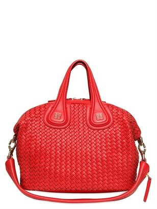 Givenchy Small Nightingale Woven Nappa Leather