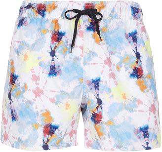 Topman Tie Dye Swim Shorts