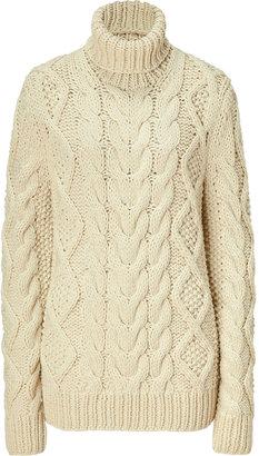 Michael Kors Ecru Cable Knit Sweater