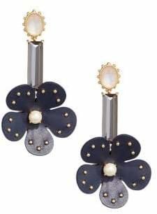 Kate Spade Blooming Bling Floral Faux Pearl Drop Earrings