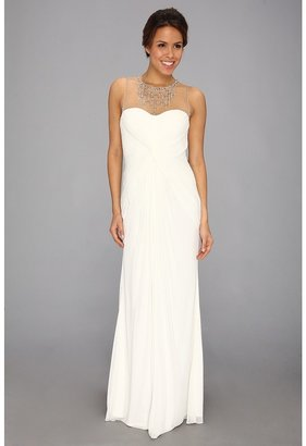 Adrianna Papell Necklace Long Gown (Ivory) - Apparel