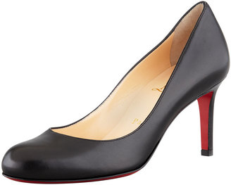 Christian Louboutin Simple Leather Red Sole Pump, Black